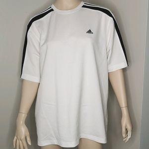 Adidas 3 Stripes Athletic Golf Fitness Tee Shirt